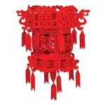 Chinese Palace Red Felt Lantern