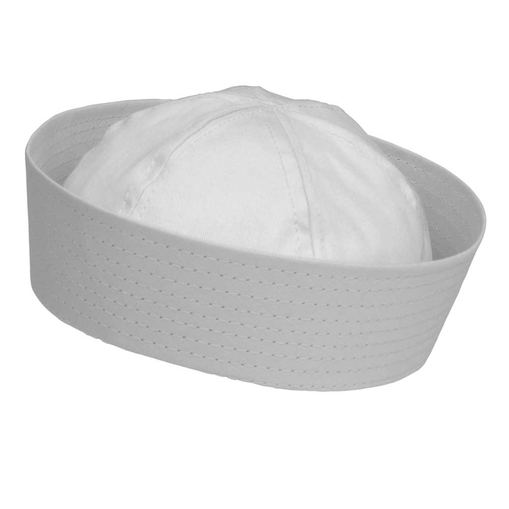 White 100% Cotton Sailor Hat - Gilligan's Island Style