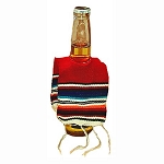 Adorable Mexican Serape Beer Bottle Poncho (color varies)