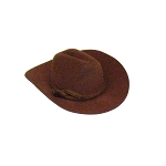 Flocked Mini Cowboy Hats (12) - 3 colors