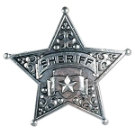 Metal 5-Point Star Sheriff's Badge