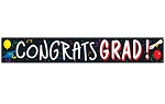 20-Foot CONGRATS GRAD Plastic Party Tape **CLEARANCE**