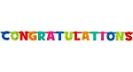 7.5-Foot CONGRATULATIONS Letter Banner ** DISCONTINUED **