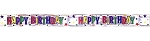60-foot Silver Mylar Happy Birthday Banner Tape