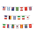 23-Foot International World Flags Banner Border