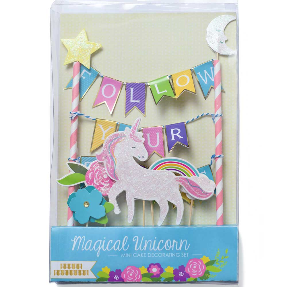FOLLOW YOUR DREAMS Mini Paper Cake Topper Bunting **CLEARANCE**