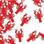 Metallic Red Die-Cut Lobster/Crawfish Confetti