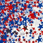 Red, White & Blue Stars Metallic Confetti **CLEARANCE**