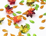 Metallic 3-D Fall Leaves Confetti in Vibrant Gold, Green, Orange & Red