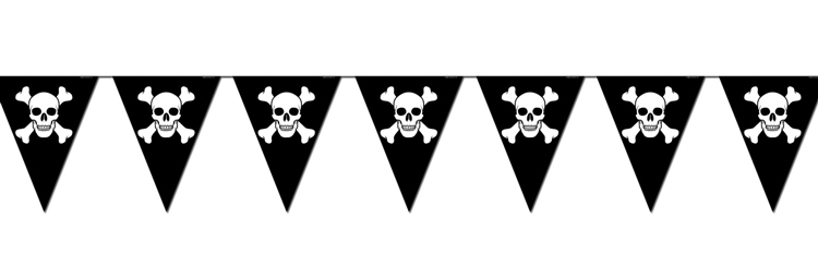 Mexican Red Cross >> Jolly Roger Skull & Crossbones Pirate Pennants | Nautical ...