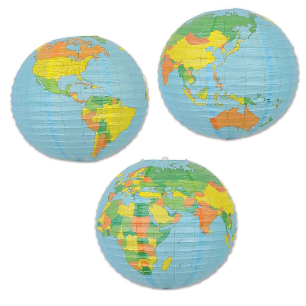 15 5 Quot World Globe Round Paper Lantern International