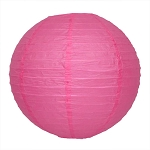 Hot Pink/Fuchsia Round Paper Lantern (1) - 3 sizes
