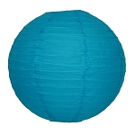 Turquoise/Teal Round Paper Lantern (1) - 2 sizes