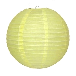 Yellow Round Paper Lantern (1) - 2 sizes