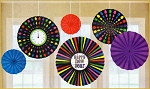 New Year's Hanging Paper Fan Decorations (6) **CLEARANCE**