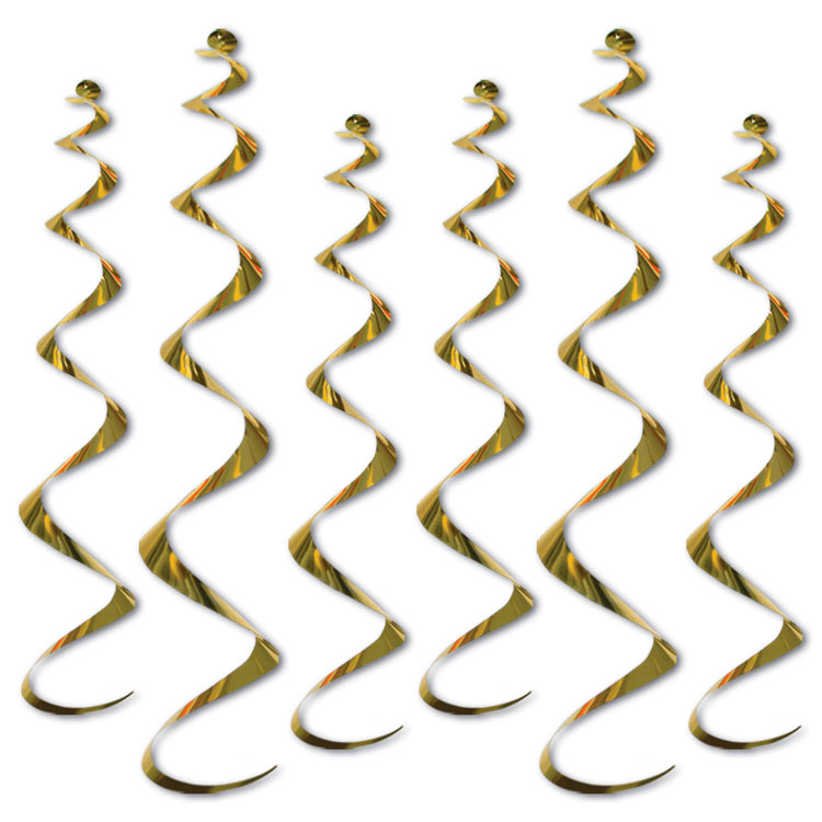 Gold Metallic Twirly Whirly Hanging Ceiling Swirls (6)