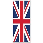 6-Foot Union Jack Flag Plastic Door Cover