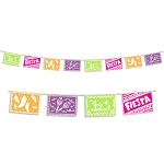 12-Foot Printed Plastic Papel Picado Mexican Banner