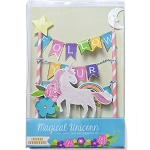FOLLOW YOUR DREAMS Mini Paper Cake Topper Bunting