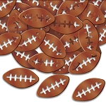 Metallic Brown Die-cut Football Confetti