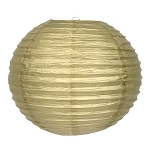 Gleaming Gold Round Paper Lantern (1) - 4 sizes