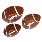Ceramic Mini Football Serving Bowls - Set of 3