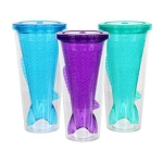 Mermaid Glitter Tail Plastic Tumbler (1) - 3 colors