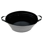Black Enamel Oval Beverage Tub - 19
