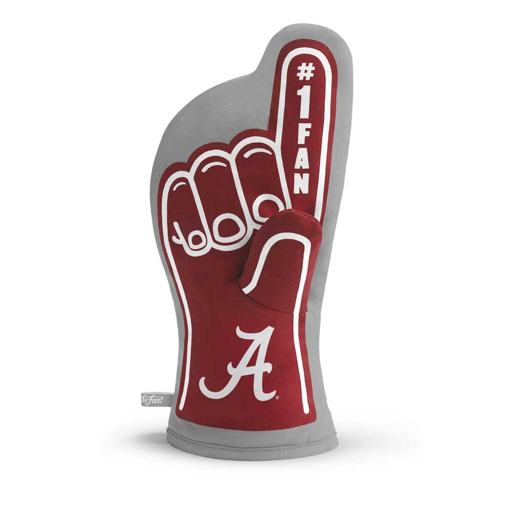University Of Alabama Crimson Tide 1 Fan Oven Mitt Football