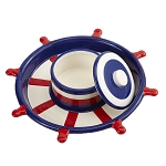 Ceramic Captain's Wheel Chip & Dip Platter