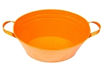 Orange Enamel Oval Beverage Tub - 19