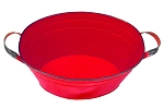 Red Enamel Oval Beverage Tub - 19