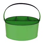 Lime Green Enamel Oval Utensil Holder - 11