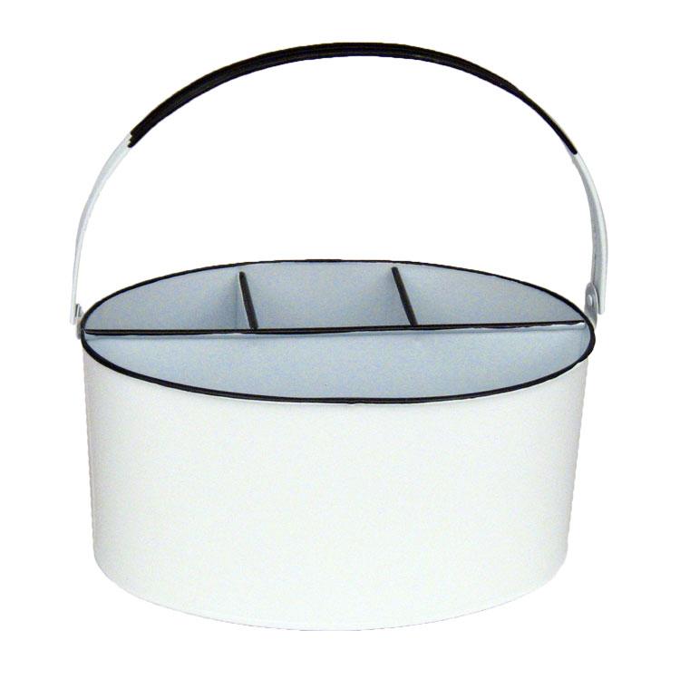11 X 7 6 White Enamel Oval Utensil Holder Outdoor