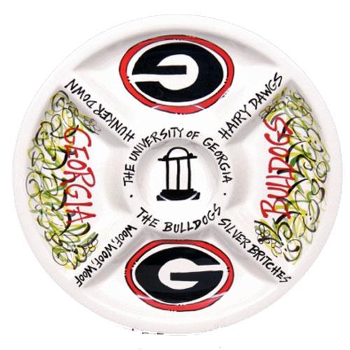 University Of Georgia Bulldogs 14 5 Quot Ceramic Veggie