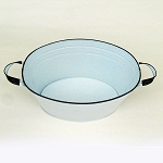White Enamel Oval Beverage Tub - 19