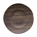 Teak Wood-Grain Melamine Plate - 2 sizes