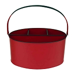Fire Engine Red Enamel Oval Utensil Holder - 11