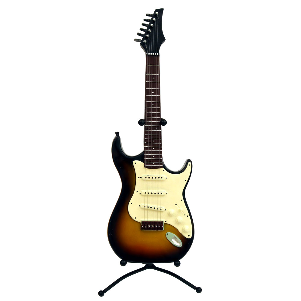 sunset electric guitar on stand centerpiece instruments music themed party decorations. Black Bedroom Furniture Sets. Home Design Ideas