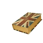Faux Leather British Flag Book Centerpiece - 2 sizes