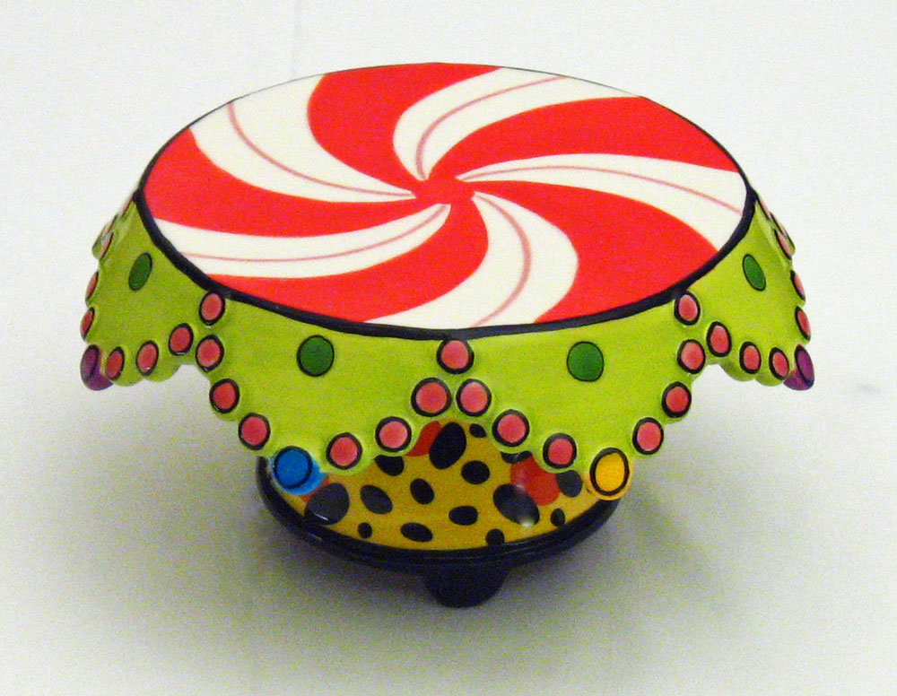 Whimsical Cake Stand Amp Chip Tray With Dip Bowl Leopard