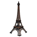 Antique Bronze Paris Eiffel Tower Metal Centerpiece - 10-inch