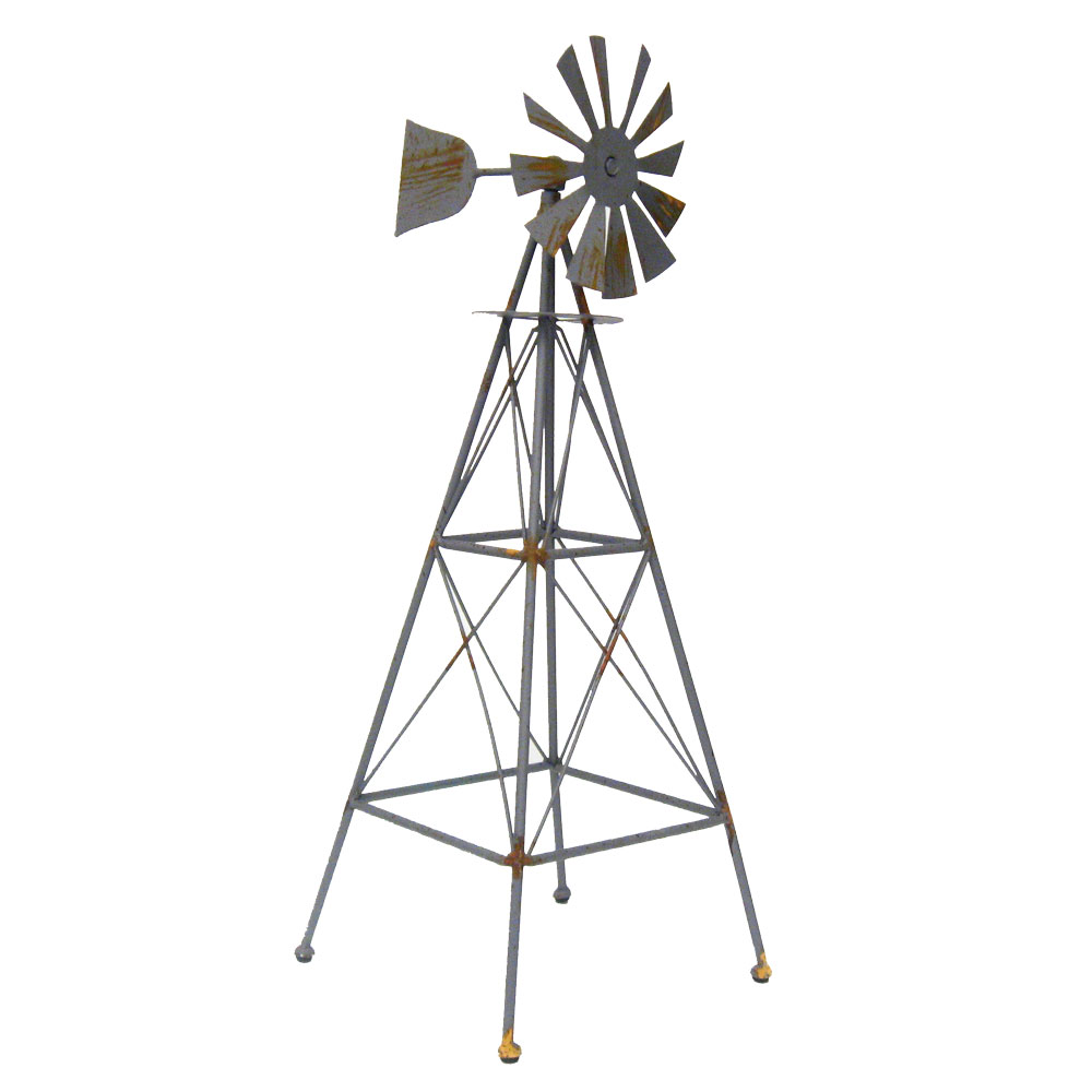 25 Quot Weathered Country Farm Style Metal Windmill Western