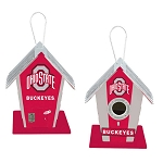Ohio State University Buckeyes Birdhouse Centerpiece