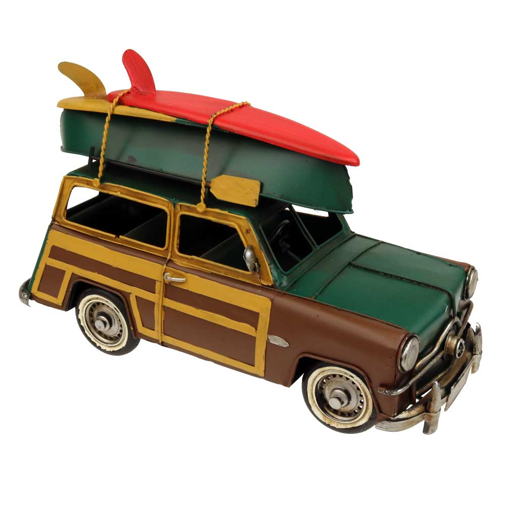Surfer Retro Woodie Wagon Centerpiece