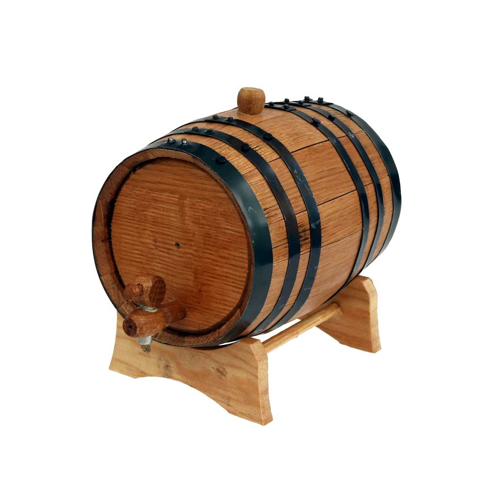 Mini Decorative Winewhiskey Barrel With Cradle Country Western
