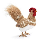 Lifesize Natural Sisal Rooster Centerpiece - 2 styles