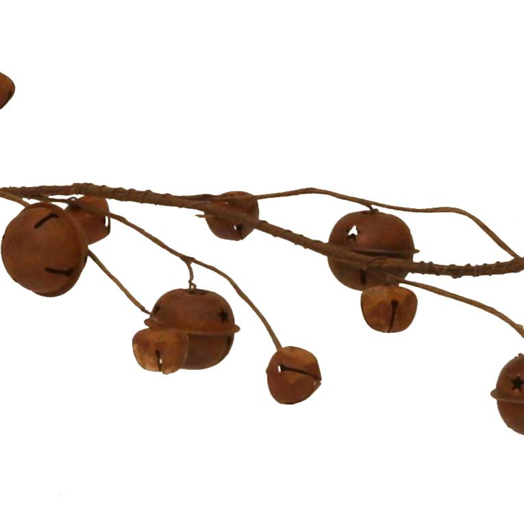 5-Foot Rusty Bells Garland