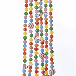 6-Foot Plastic Sugared Candy Balls & Peppermints Garland