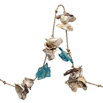 6-Foot Oyster Shell & Sea Glass Garland - 2 colors